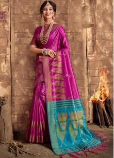 Elegant Look Soft Dola Silk Material Saree