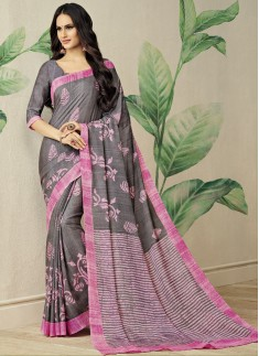 Exclusive Cotton Silk Printed Saree