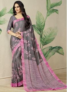 Exclusive Cotton Silk Printed Saree