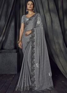 Exclusive Designer Saree With Rose Flower Butta