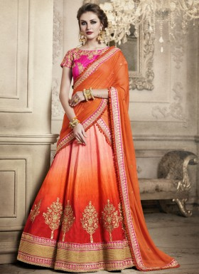 Exclusive Jhari Work Butta Lehenga Choli With Georgette Dupatta