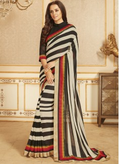 Exclusive Printed Saree With Lace Border