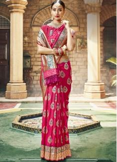 Exclusive Silk Saree With Decent Banarasi Border