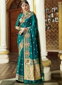 Exclusive Silk Saree With Decent Banarasi Border And Rich Pallu
