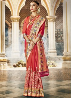 Exclusive Silk Saree With Decent Banarasi Border A