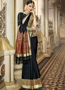 Exclusive Silk Saree With Decent Banarasi Border And Rich Pallu