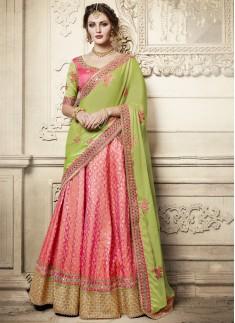 Exclusive Weaving Print Lehenga Choli With Contrast Dupatta