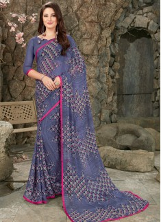 Fancy Casual Wear Printed Saree