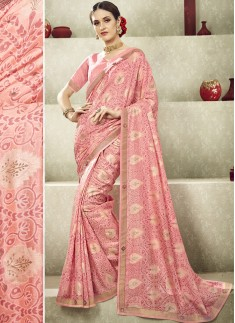 Fancy Casual Wear Saree With Lace Border