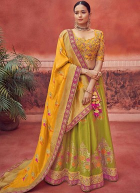 Fancy  Lehenga Choli With Banarasi Silk Dupatta