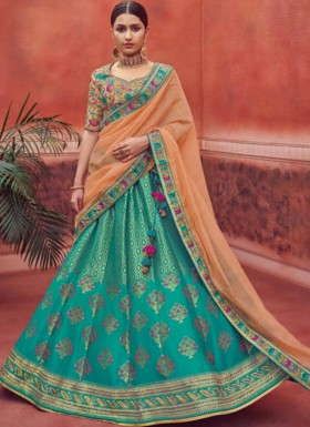 Fancy  Lehenga Choli With Contrast Georgette Dupatta