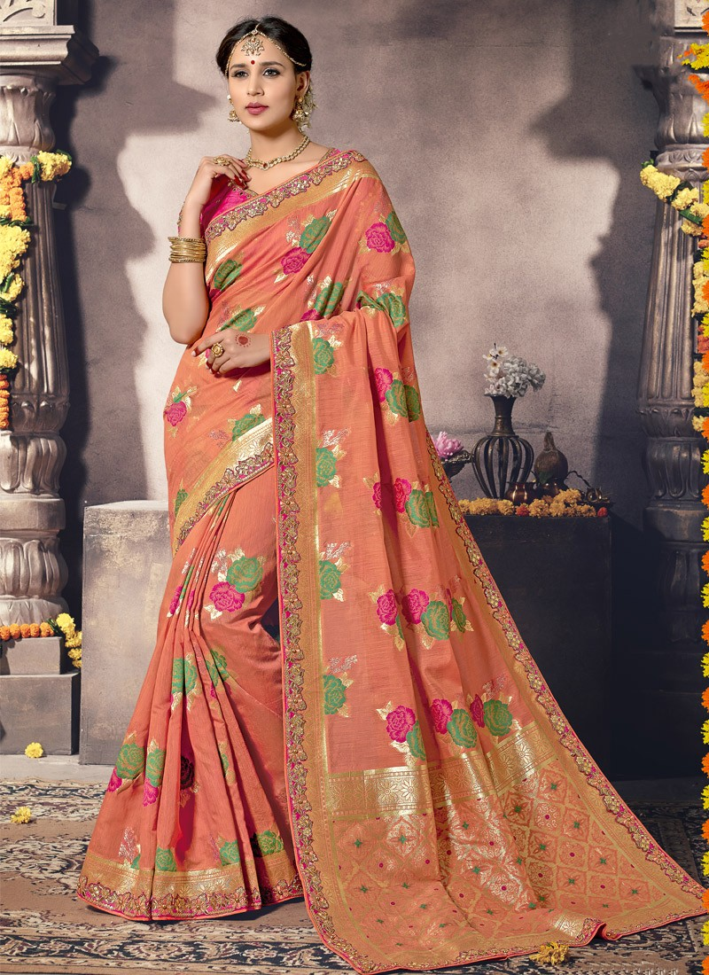 8ccd32159d Fancy Silk Material Saree With Different Print