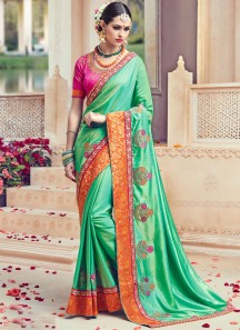 Gilded Art Silk Traditional Designer Saree