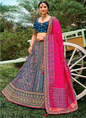 Gorgeous Banarasi Silk Lehenga Choli WIth Decent Work And Weaving