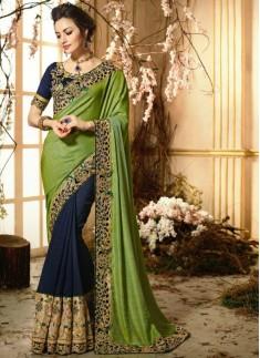 Half -Half Designer saree