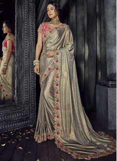 Imported Laikra saree With Rose Flower Butta
