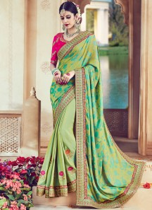 Integral Art Silk Patch Border Work Designer Traditional Saree