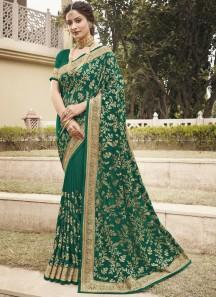 Jaal Concept Jari Work Designer Look Saree