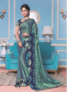 Master Piece designer saree With Brocade Border with Brocade blouse