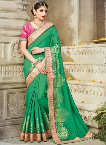 Observable Art Silk Green Designer Traditional Saree
