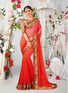 printed saree with digital border with digital boluse