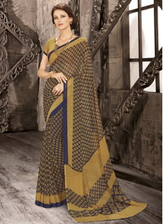 Regular Wear Exclusive Printed Saree