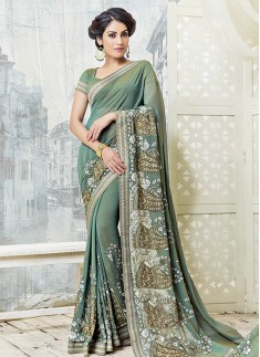 Skirt Border Style Saree With Different Material