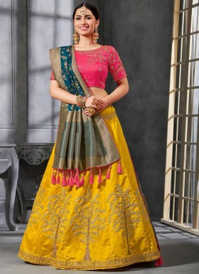 Stunning Lehenga Choli With Decent Work