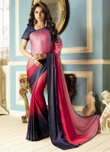 Stylish Diamond Border Saree With Three Colors Of Shades