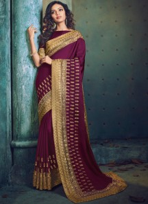 Traditional Look Skirt Border Style Saree