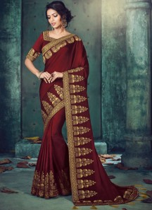 Traditional Wear Skirt Border Work Saree