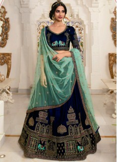 Unique Kashmiri Work Lehenga Choli In Soft Silk Ma