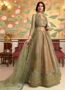 Unique Kashmiri Work Lehenga Choli In Soft Silk Material